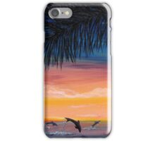 Dolphins at Sunset iPhone Case/Skin
