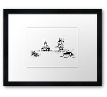 Zoo Humour - Cartoon 0010 Framed Print