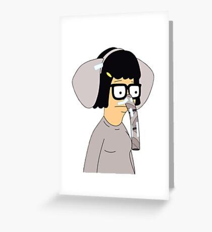 Tina Belcher in Elephant Costume  Greeting Card