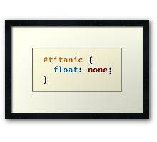 #titanic Framed Print