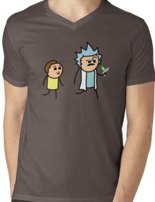 RICK AND MORTY CYANIDE style Mens V-Neck T-Shirt