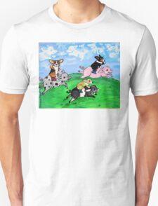 Corgi pig racing T-Shirt