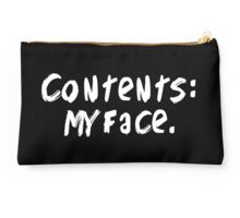 Contents: my face. Studio Pouch
