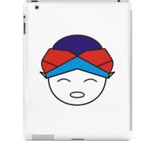 Smiling Red Blue Blangkon iPad Case/Skin