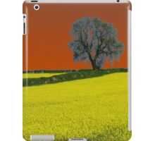 Oak Tree Landscape ( Orange ) iPad Case/Skin