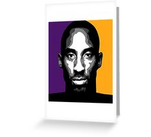 KOBE BRYANT LAST SEASON Greeting Card