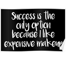 Success only option, expensive makeup Poster