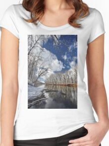 By the river Women's Fitted Scoop T-Shirt