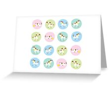 fun dog pattern Greeting Card