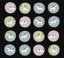 fun dog pattern One Piece - Short Sleeve