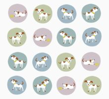 fun dog pattern One Piece - Short Sleeve