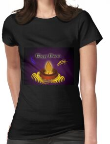 Happy Diwali Womens Fitted T-Shirt