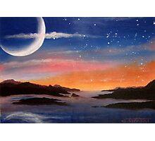 Sunset Moon Photographic Print