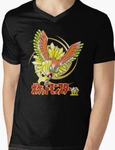 Pocket Monsters: Gold Mens V-Neck T-Shirt