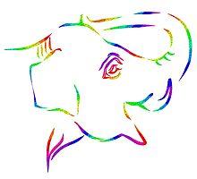 """Elephant Rainbow""""moi"""" by Hannah V Sharp-Harrison"""