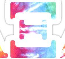 azd tie dye Sticker