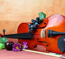 A still life of a Violin by Dipali S