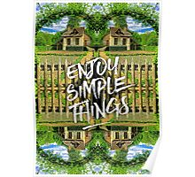 Enjoy Simple Things Marie-Antoinette Hamlet Versailles Poster
