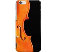 A violin on black iPhone Case/Skin