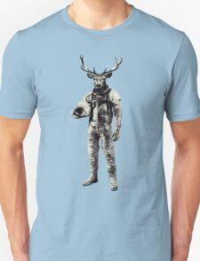 Psychedelic Deer Astronaut (Vintage Effect) Unisex T-Shirt