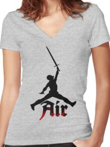 Medieval Jordan Women's Fitted V-Neck T-Shirt