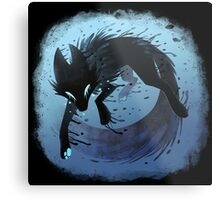 Inky Fox Metal Print
