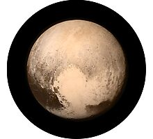 IT'S REALLY PLUTO'S HEART - HIGH QUALITY IMAGE Photographic Print