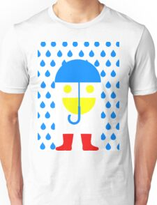 Face Goes for Walk in Rain Unisex T-Shirt