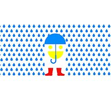 Face Goes for Walk in Rain Photographic Print