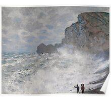 Claude Monet - Rough weather at Etretat ((1883)) Poster