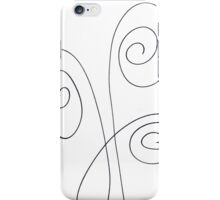 Black and white waves  iPhone Case/Skin