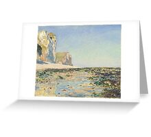 Claude Monet - Seashore and Cliffs of Pourville in the Morning (1882) Greeting Card