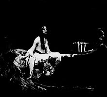 Black and White Ghostly Lady of Shalott by renaisseance
