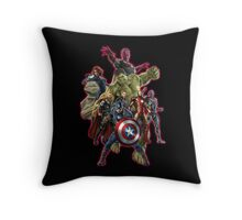 warrior of the galaxy Throw Pillow