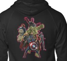 warrior of the galaxy Zipped Hoodie