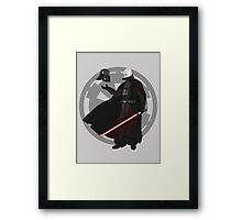 Vader Unmasked Framed Print