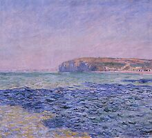 Claude Monet - Shadows on the Sea. The Cliffs at Pourville (1882) by famousartworks