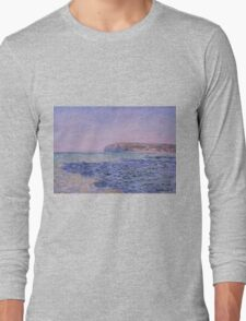Claude Monet - Shadows on the Sea. The Cliffs at Pourville (1882) Long Sleeve T-Shirt