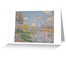 Claude Monet - Spring by the Seine (ca. 1875) Greeting Card