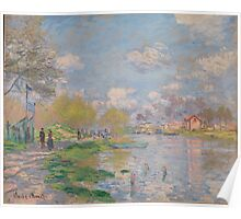 Claude Monet - Spring by the Seine (ca. 1875) Poster
