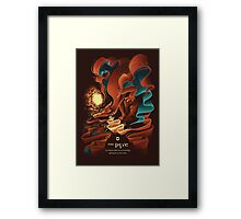 Red: The Pyre Framed Print