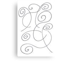 Black and white pencil drawing  Canvas Print