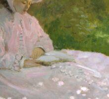 Claude Monet - Springtime (1872)  Impressionism Sticker