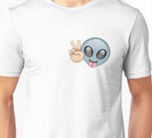 Alien Emoji Peace Pattern  Unisex T-Shirt