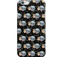 Alien Emoji Peace Pattern  iPhone Case/Skin
