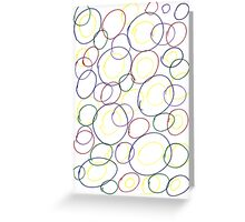 Colorful bubble, abstract print  Greeting Card