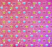 Princess Emoji Pattern  by Lucy Lier