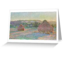 Claude Monet - Stacks of Wheat (End of Summer) (1890-91) Greeting Card