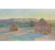 Claude Monet - Stacks of Wheat (End of Summer) (1890-91) Photographic Print