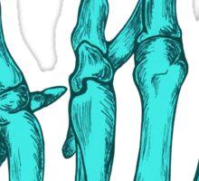 Aqua Rock On Skeleton Hand Sticker